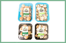Crimini Mushrooms in their packaging